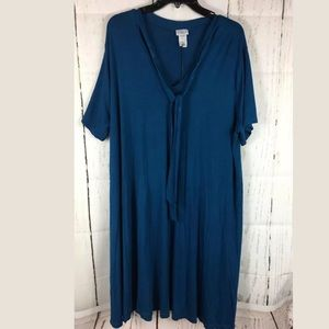Fearless Society Blue T-Shirt Dress 18/20 Plus